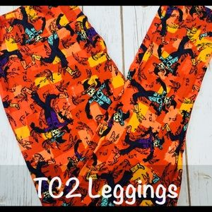 Halloween Leggings with Scarecrows